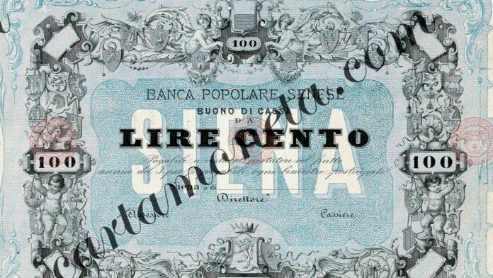 Svelato il 100 lire della Banca Popolare Senese