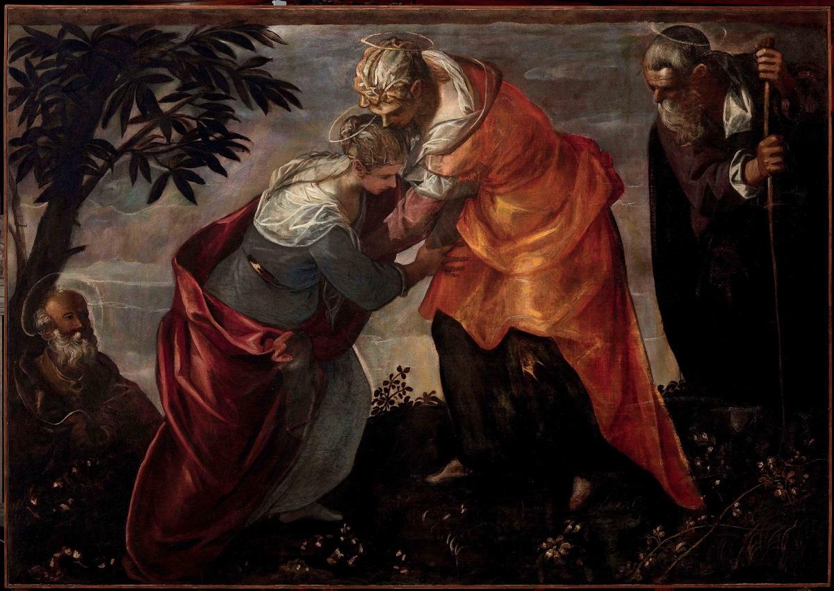 """La """"Visitazione"""" dipinta da Tintoretto per la Scuola Grande di San Rocco a Venezia"""
