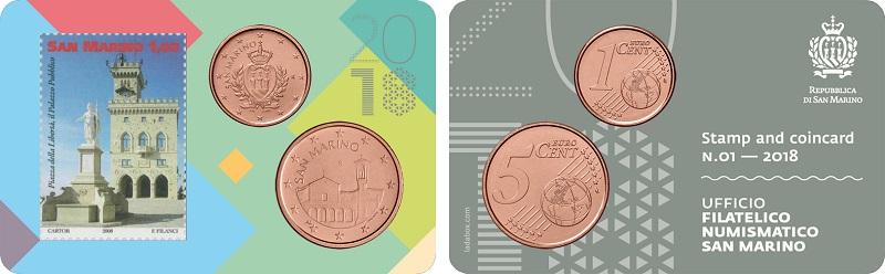 CI sono i ricercati bassi tagli da 1 e 2 euro cent, ormai fuori uso, sulla prima delle due card emesse dal Titano