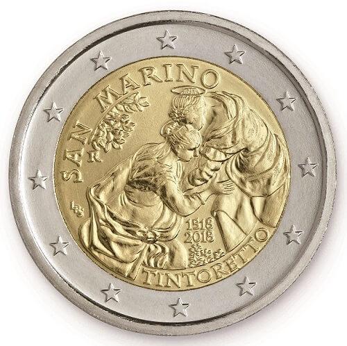 I 2 euro sammarinesi 2018 dedicati al pittore veneziano