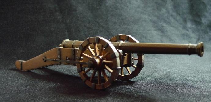 """Modello de """"La Giulia"""", uno dei celebri cannoni dell'artiglieria ferrarese del Cinquecento"""
