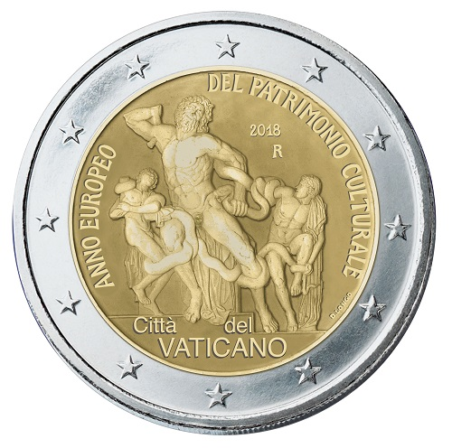 Il capolavoro dell'arte classica sui nuovi 2 euro vaticano