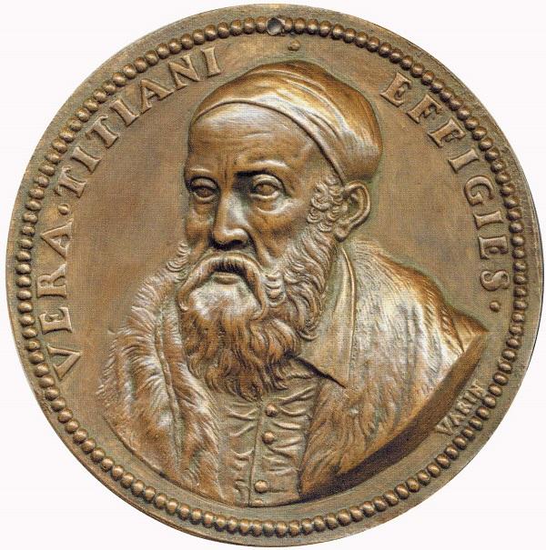 Claude Warin, Tiziano Vecellio, ca. 1645 (bronzo; mm 105,6; g -)