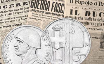 """Quei due """"bellicosi"""" progetti per le monete da 5 e 10 lire tipo Fascio"""
