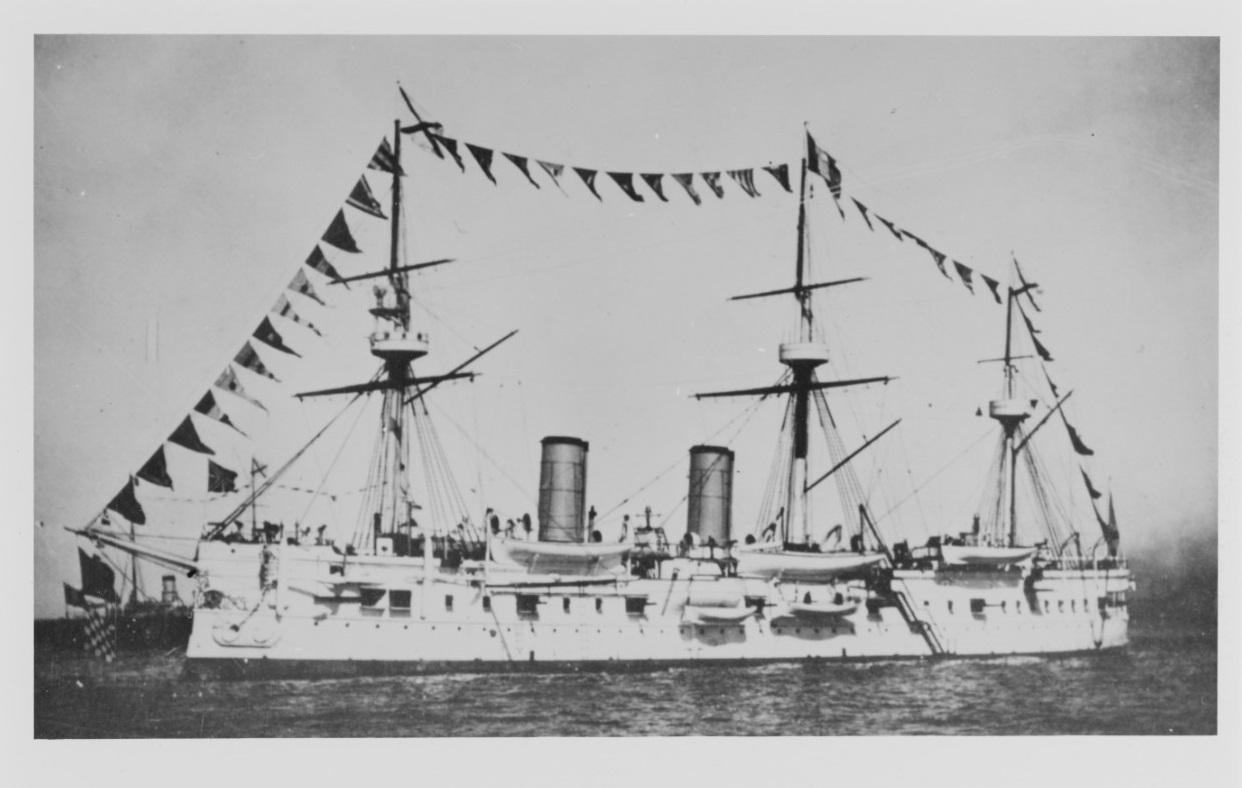 L'incrociatore in una foto d'epoca