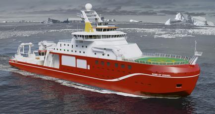 "La modernissima nave da ricerca britannica ""RSS Sir David Attenborough"""