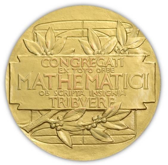 """Al rovescio del """"Nobel della matematica"""" un'iscrizione dedicatoria e un altro richiamo ad Archimede"""
