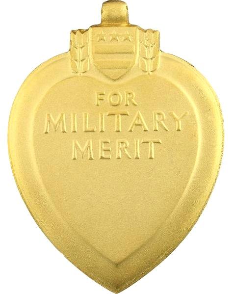 Rovescio della Purple Heart personalizzabile con il nome del decorato