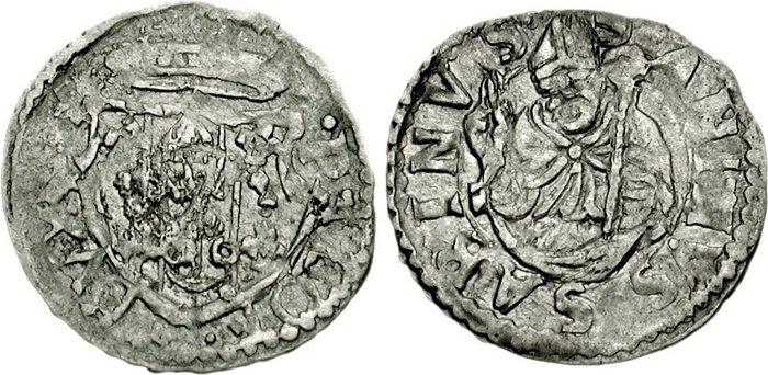 5. Baiocchetto in argento. D/ P• ALOISIVS • F DVX • CASTRI