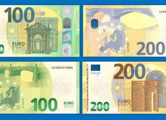 Presentati al pubblico i nuovi 100 e 200 euro