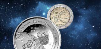 Dal Belgio 2 euro per il mezzo secolo di Europa nello spazio