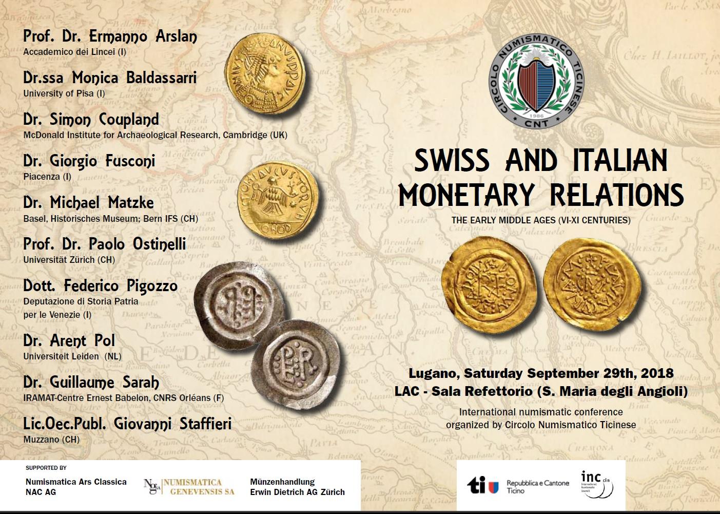 Convegno circolo numismatico ticinese