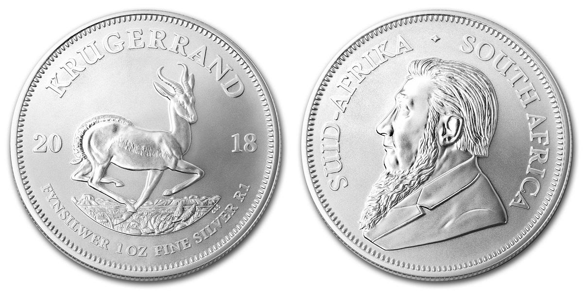 Ecco il krugerand in argento messo sul mercato da South African Mint all'inizio di agosto