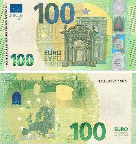 Mantengono il verde come colore base, ma si presentano più vivaci i nuovi 100 euro