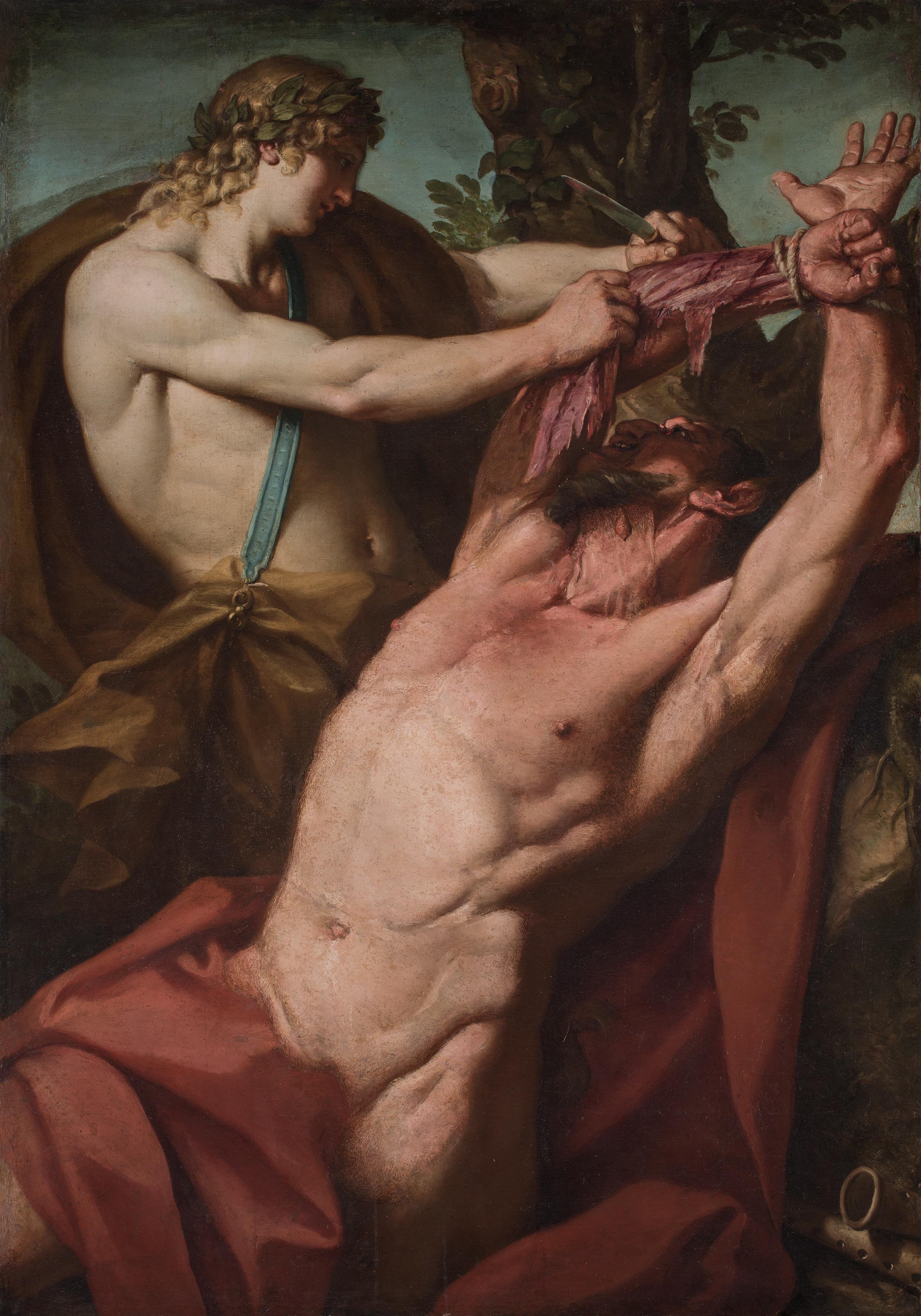 """""""Il supplizio di Marsia"""", dipinto di Francesco Rosa (1635/1640-1710) oggi ai Musei Civici di Padova"""