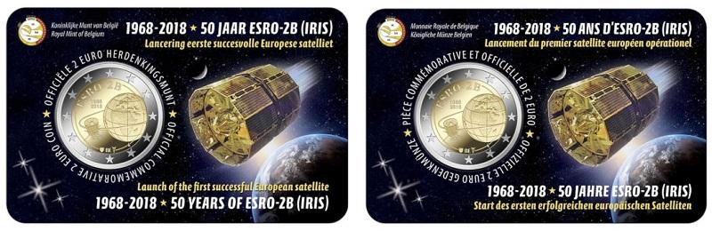 La doppia versione della coincard voluta da Bruxelles con iscrizioni in francese e olandese