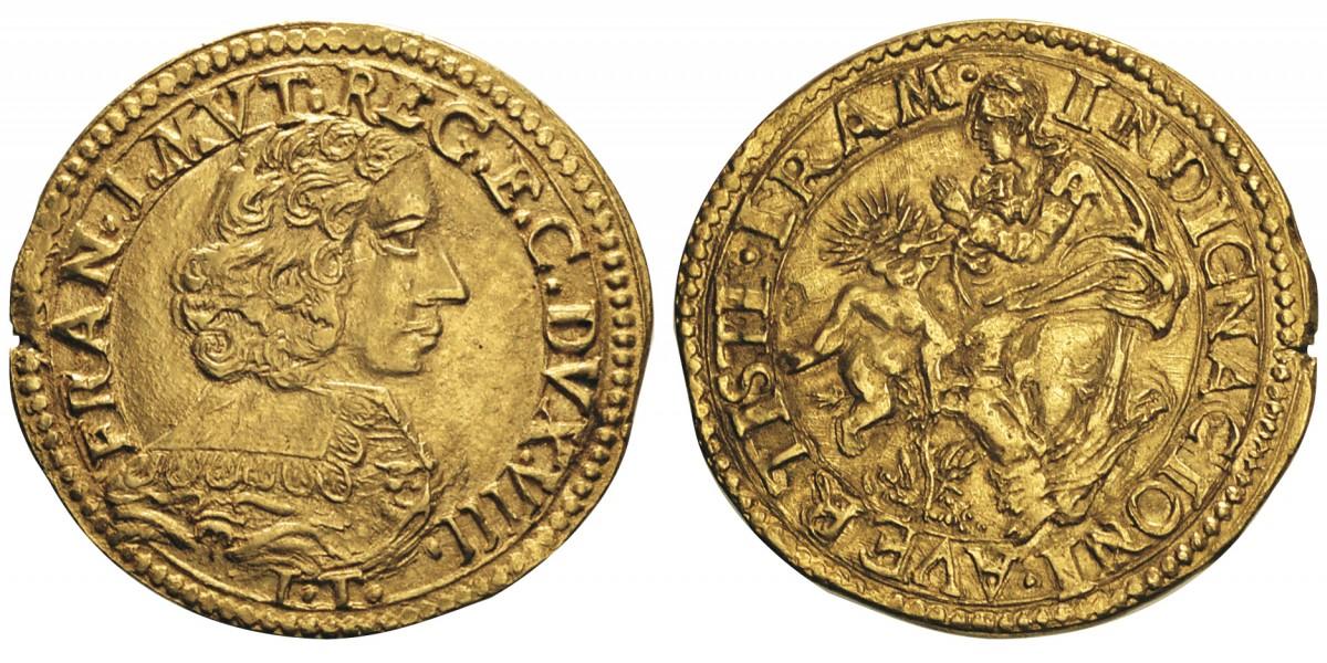 """Uno dei più begli esemplari noti di quadrupla estense al tipo della """"Madonna della Ghiara"""""""