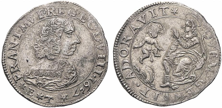 """Lira in argento con la """"Madonna della Ghiara"""":la legenda è diversa anche per evidenziare dorature fraudolente"""