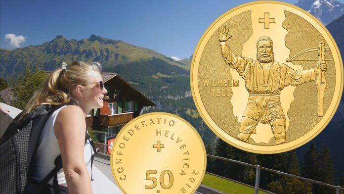I nuovi 50 franchi oro da Berna per il mito di Guglielmo Tell