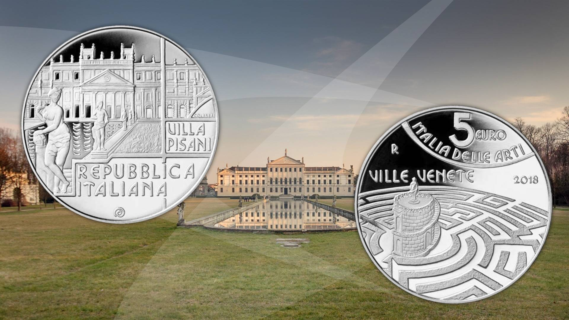 Ecco Villa Pisani - moneta 5 euro