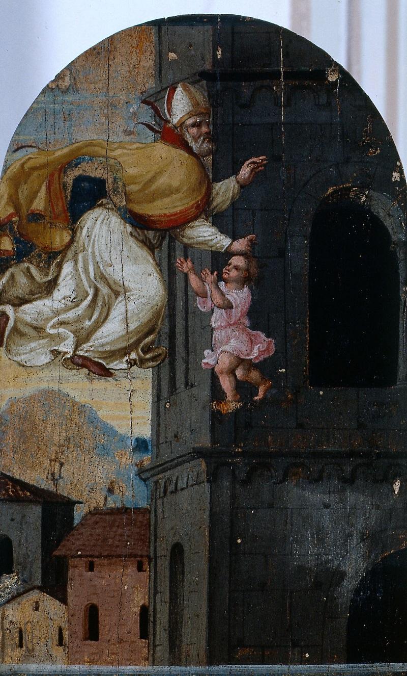 """""""Il miracolo di san Geminiano che salva il bambino"""" di Pellegrino Munari"""
