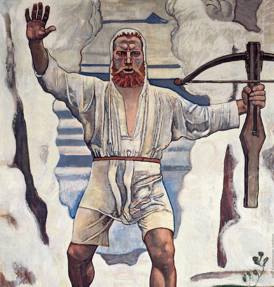 Il famoso Gugliemo Tell dipinto da Ferdinand Hodler