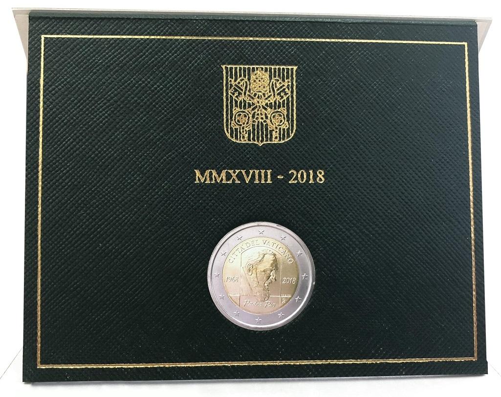 Il folder contenente la 2 euro vaticana