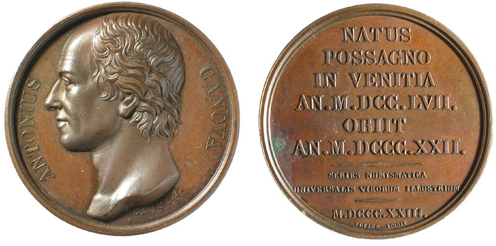 "Fig. 1   1823. A. A. Caqué, Medaglia appartenente alla ""Series numismatica universalis virorum illustrium"""
