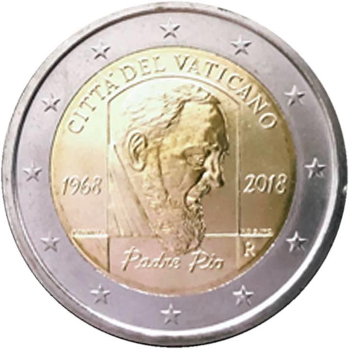 La faccia nazionale dei 2 euro vaticani
