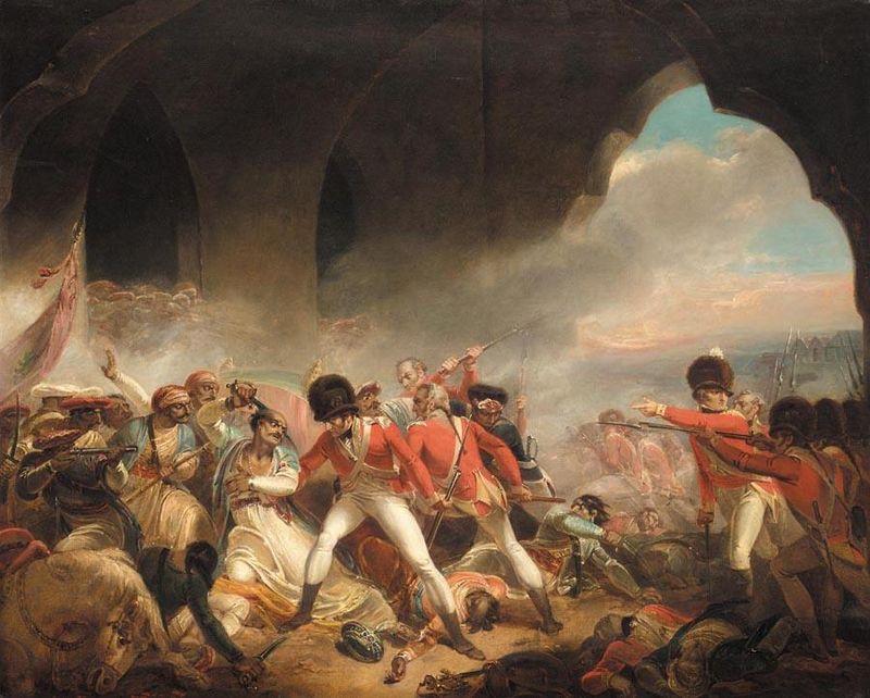 """Fig. 2. - Singleton, """"L'ultimo sforzo e la caduta del sultano Tipu"""", c. 1800"""