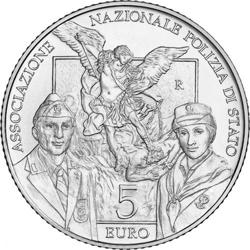 """Due membri dell'ANPS, ideale """"scorta"""" all'arcangelo Michele di Guido Reni, patrono della Polizia"""