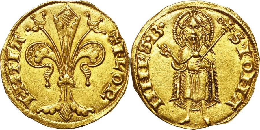 Uno dei primissimi fiorini di Firenze, coniato probabilmente tra il 1252 e il 1260
