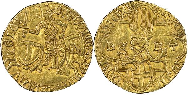 Ludovico, 1439-1465. Ducato d'oro, Cornavin.MIR 155b (R3). NGC AU53