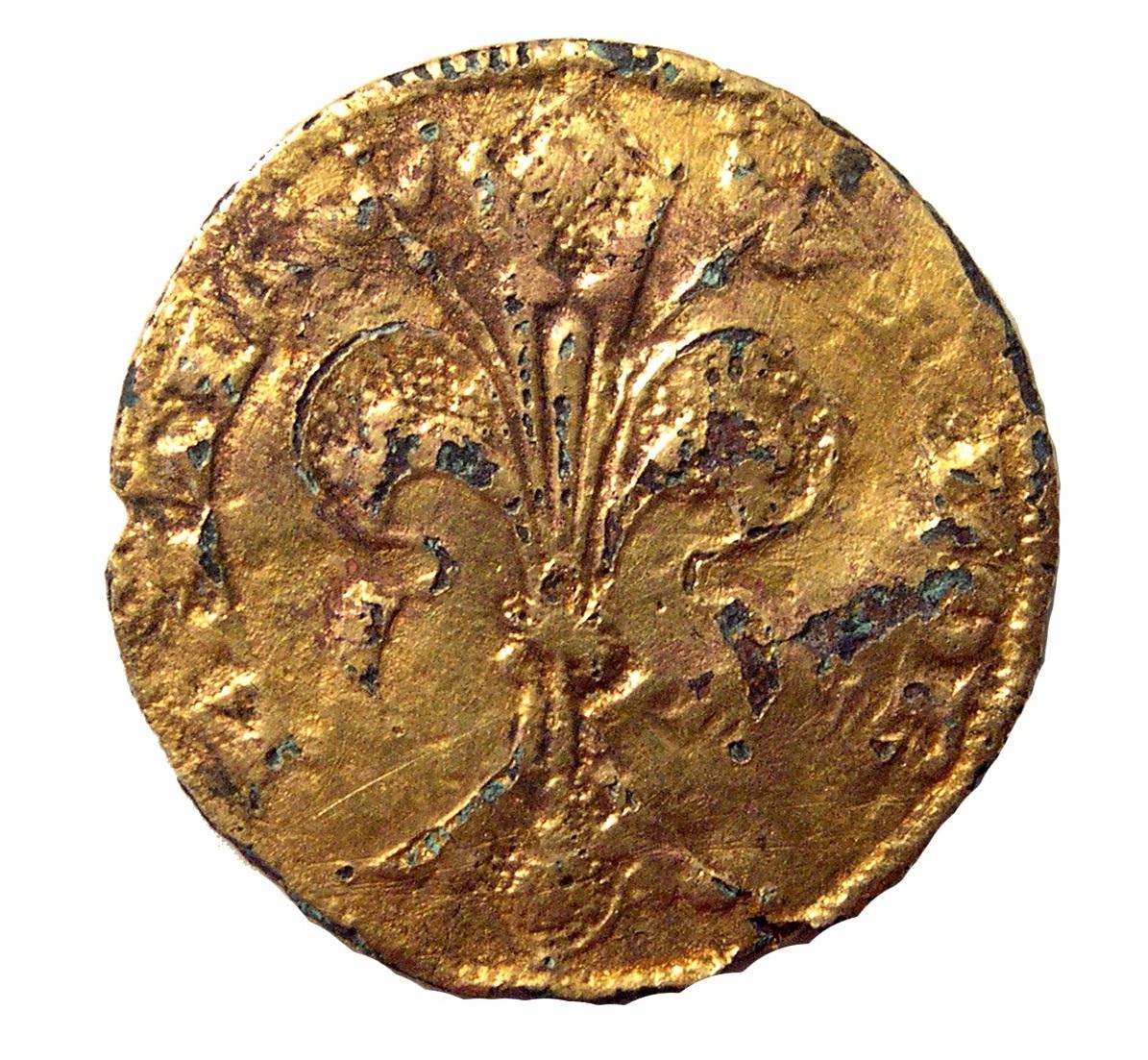 Dritto del fiorino suberato del 1310