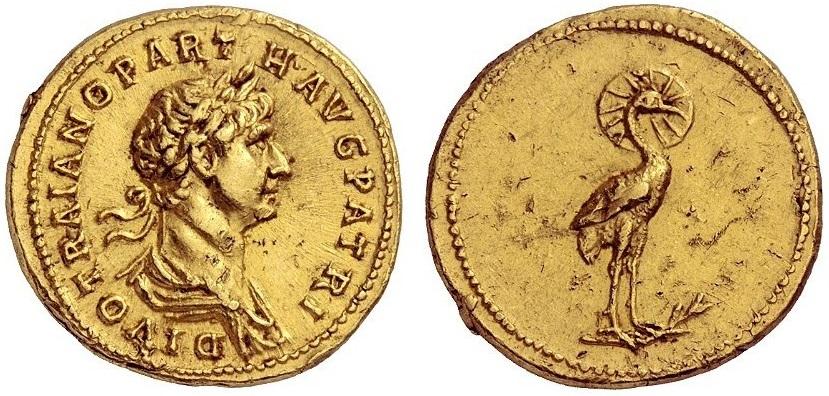 Aureo di consacrazione del 118 d.C