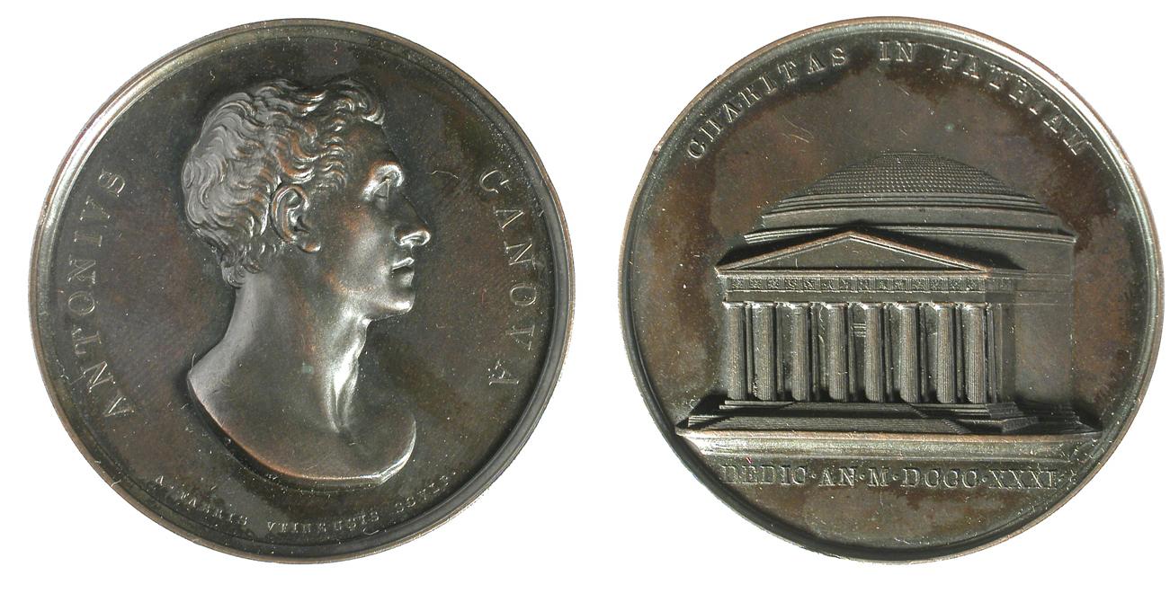 Fig. 4   1831. A. Fabris, Completamento e dedicazione del Tempio canoviano