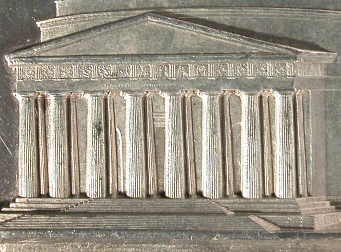 Fig. 5   Particolare del pronao del Tempio canoviano