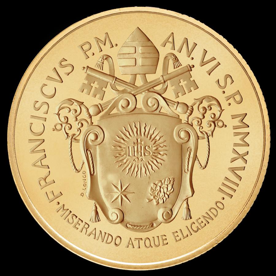 Una sagoma a cartella con chiavi di gusto antico: ecco come è stato rielaborato l'emblema araldico pontificio