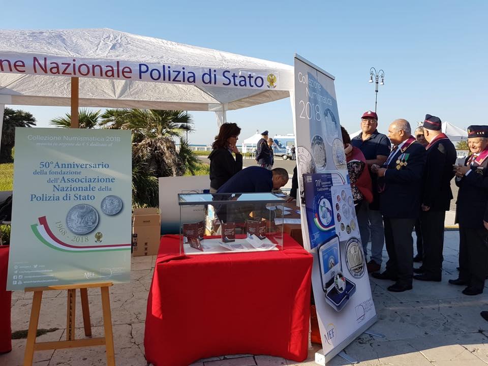 Lo stand del Poligrafico e Zecca dello Stato italiano al Raduno nazionale ANPS di Ostia Lido