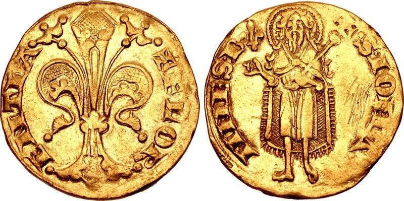 Originale del fiorino coniato nel corso del primo semestre del 1310