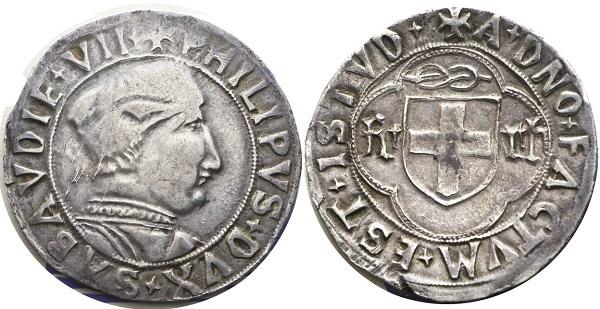 Filippo II, 1496-1497. Testone, I Tipo. MIR 277d (R8)