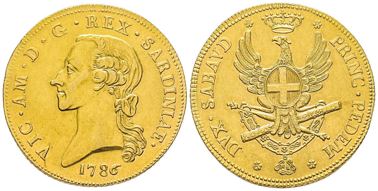 Vittorio Amedeo III, 1773-1796. Carlino da 5 doppie,