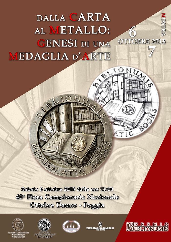 La locandina della mostra, visitabile alla Fiera di Foggia il 6-7 ottobre