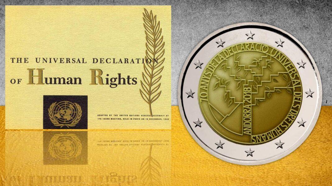Andorra ricorda con una 2 euro il valore dei diritti umani