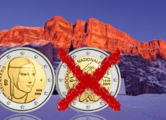 2 euro d'Italia 2019 con Leonardo da Vinci