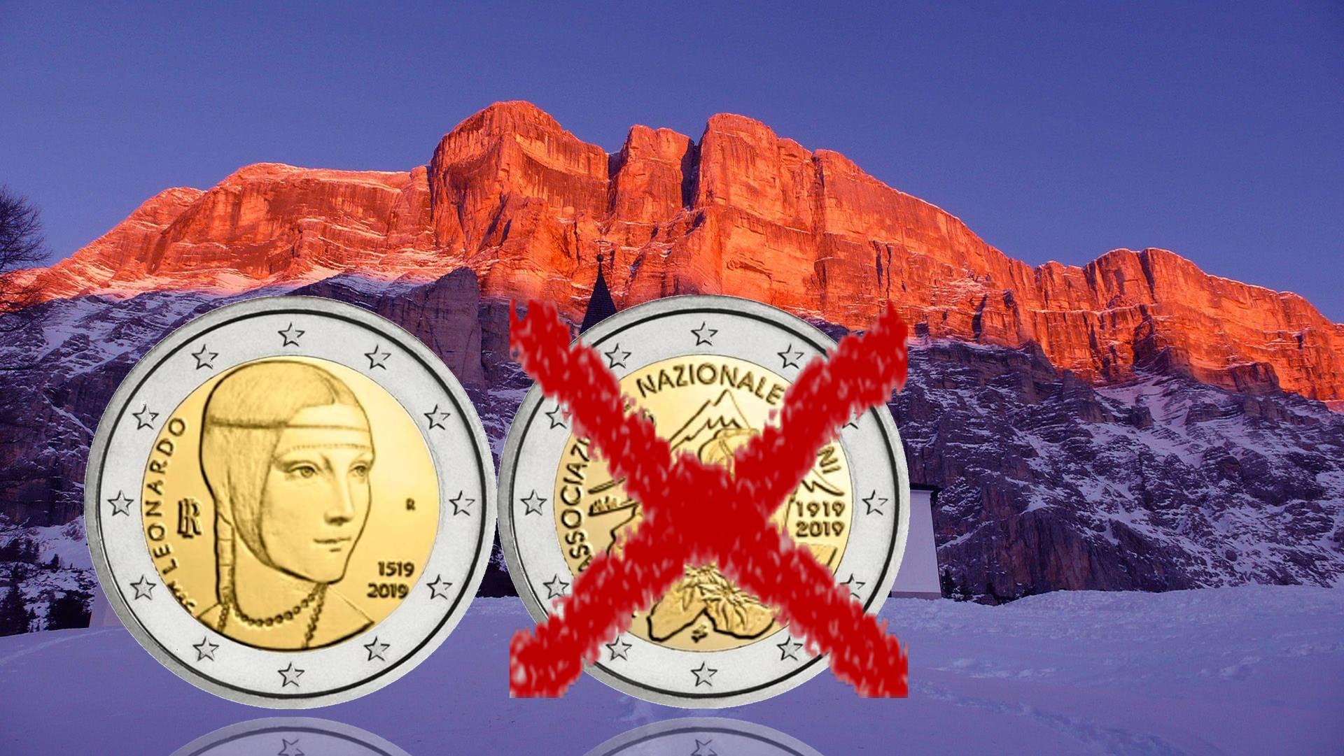 Calendario Prossime Adunate Alpini.2 Euro D Italia 2019 Con Leonardo Da Vinci Sotto I