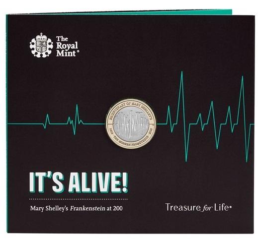 """""""E' vivo!"""": queste allarmanti parole accompagnano il folder della 2 pound per Frankenstein"""