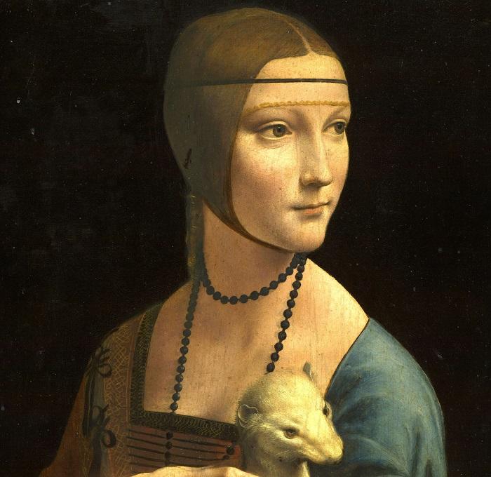 """L'eleganza senza tempo de """"La dama con l'ermellino"""" dipinta da Leonardo da Vinci"""