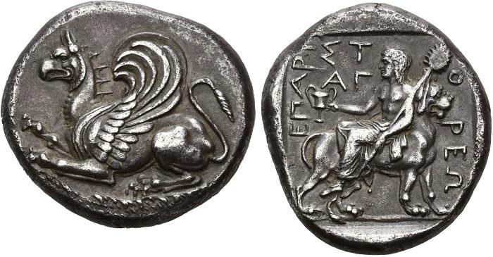 Abdera, ttradramma, intorno al 365-361 a.C