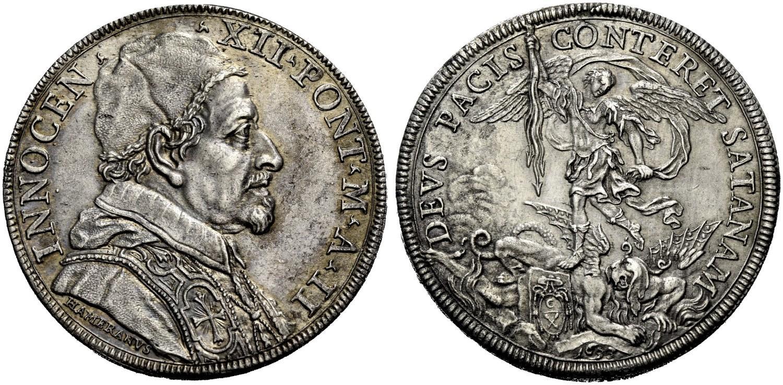 La piastra con san Michele datata anno II - 1693
